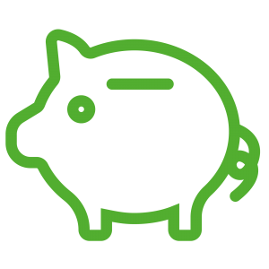 finance save icon